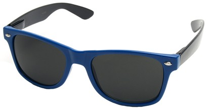 Angle of Michigan #1608 in Royal Blue and Black Frame, Women's and Men's Retro Square Sunglasses