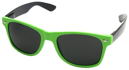 Angle of Michigan #1608 in Lime Green and Black Frame, Women's and Men's Retro Square Sunglasses