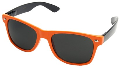 Angle of Michigan #1608 in Neon Orange and Black Frame, Women's and Men's Retro Square Sunglasses