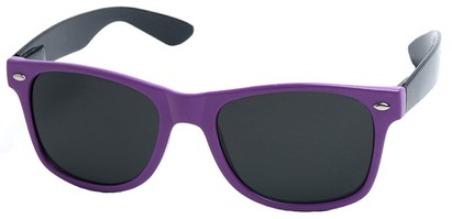 Angle of Michigan #1608 in Purple and Black Frame, Women's and Men's Retro Square Sunglasses