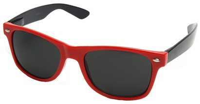 Angle of Michigan #1608 in Red and Black Frame, Women's and Men's Retro Square Sunglasses