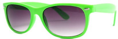 Angle of SW Neon Green Retro Style #1610 in Neon Green Frame, Women's and Men's