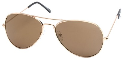 Angle of SW Gold Aviator Style #1678 in Gold Frame, Women's and Men's