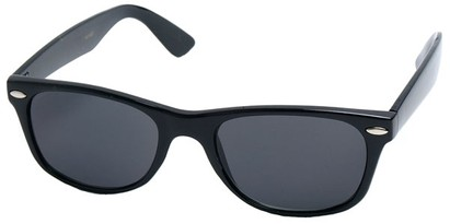 Angle of Trailblazer #1684 in Black Frame with Smoke Blue Lenses, Women's and Men's Retro Square Sunglasses
