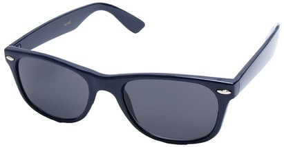 Angle of Trailblazer #1684 in Royal Blue Frame with Smoke Lenses, Women's and Men's Retro Square Sunglasses