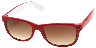 Angle of SW Retro Style #1686 in Red and White Frame, Women's and Men's