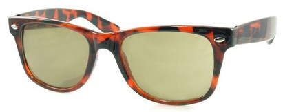 Angle of SW Retro Style #1688 in Brown Frame with Brown Lenses, Women's and Men's