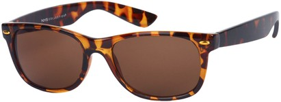 Angle of Highpoint #1689 in Tortoise Frame with Amber Lenses, Women's and Men's Retro Square Sunglasses
