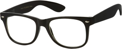 Angle of SW Retro Style #1698 in Black Frame with Clear Lenses, Women's and Men's