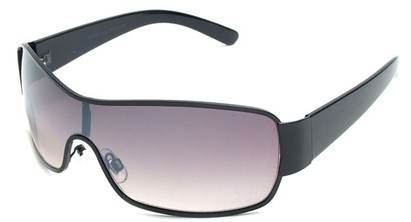 Angle of Elko #1705 in Black, Women's and Men's Square Sunglasses