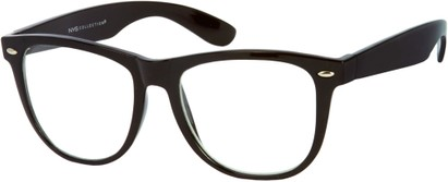 Angle of SW Clear Retro Style #831 in Black Frame, Women's and Men's