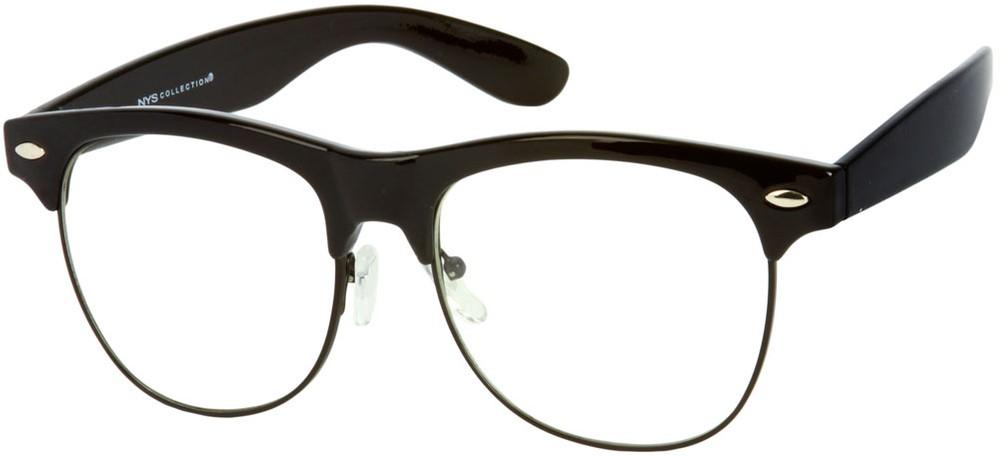 Non-Prescription Clear Browline Glasses