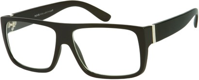 Angle of Georgetown #1480 in Matte Black Frame, Men's Square Sunglasses
