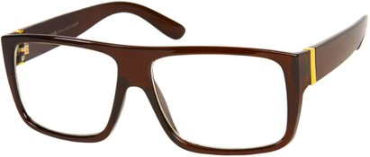 Angle of Georgetown #1480 in Glossy Brown Frame, Men's Square Sunglasses