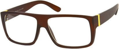 Angle of Georgetown #1480 in Matte Brown Frame, Men's Square Sunglasses