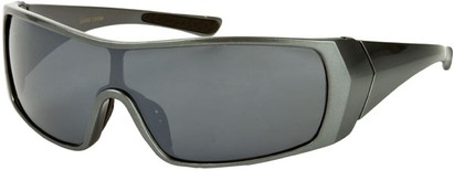 Angle of SW Sport Style #855 in Grey Frame, Women's and Men's