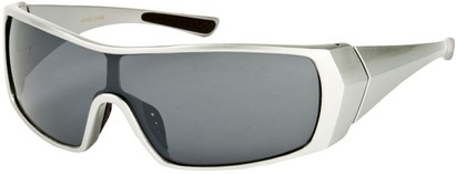 Angle of SW Sport Style #855 in Silver Frame, Women's and Men's