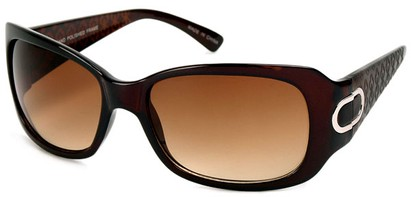 Angle of Madrid #1087 in Brown Frame, Women's Square Sunglasses