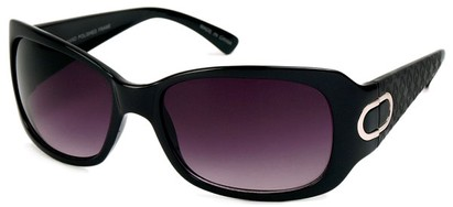 Angle of Madrid #1087 in Black Frame, Women's Square Sunglasses