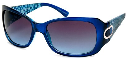 Angle of Madrid #1087 in Blue Frame, Women's Square Sunglasses