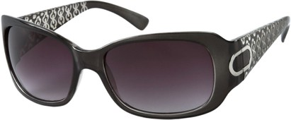 Angle of Madrid #1087 in Clear Grey Frame, Women's Square Sunglasses