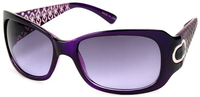 Angle of Madrid #1087 in Purple Frame, Women's Square Sunglasses