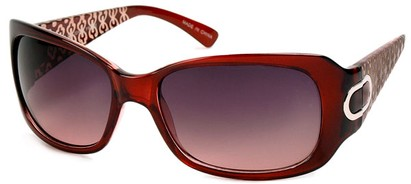 Angle of Madrid #1087 in Red Frame, Women's Square Sunglasses