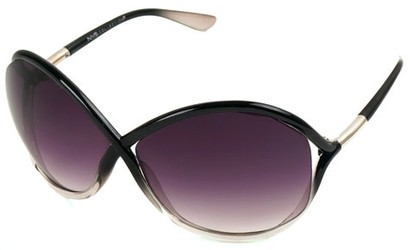 Angle of SW Oversized Style #167 in Black Fade Frame, Women's and Men's