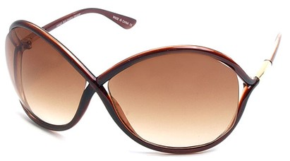 Angle of SW Oversized Style #167 in Brown Frame, Women's and Men's