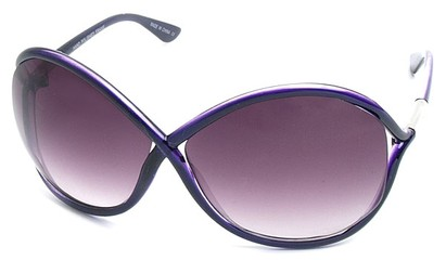 Angle of SW Oversized Style #167 in Purple Frame, Women's and Men's
