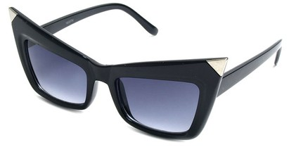 Angle of SW Fashion Style #13010 in Black Frame, Women's and Men's
