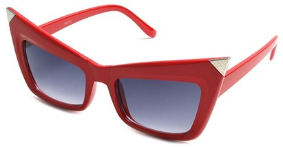 Angle of SW Fashion Style #13010 in Red Frame, Women's and Men's