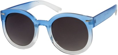 Angle of SW Oversized Round Style #7140 in Blue Fade Frame, Women's and Men's
