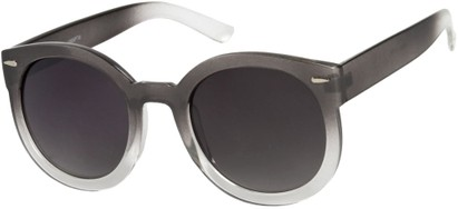 Angle of SW Oversized Round Style #7140 in Grey Fade Frame, Women's and Men's