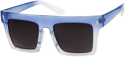 Angle of SW Rock Star Style #452 in Blue/Clear Fade Frame, Women's and Men's