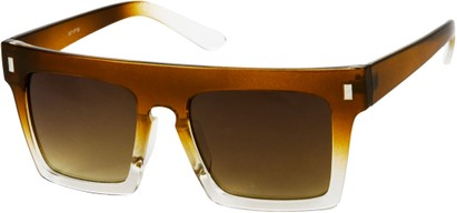 Angle of SW Rock Star Style #452 in Brown/Clear Fade Frame, Women's and Men's