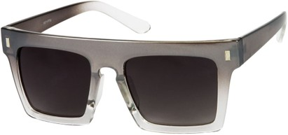 Angle of SW Rock Star Style #452 in Silver/Clear Fade Frame, Women's and Men's