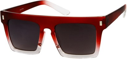Angle of SW Rock Star Style #452 in Red/Clear Fade Frame, Women's and Men's