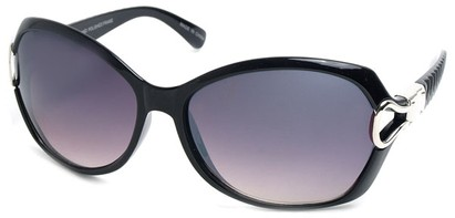 Angle of SW Oversized Style #9928 in Black Frame, Women's and Men's
