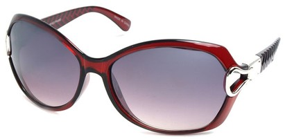 Angle of SW Oversized Style #9928 in Red Frame, Women's and Men's