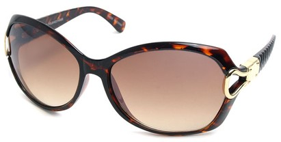 Angle of SW Oversized Style #9928 in Tortoise Frame, Women's and Men's