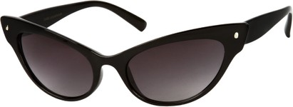Angle of SW Extreme Cat Eye Style #462 in Black Frame, Women's and Men's