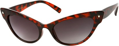 Angle of SW Extreme Cat Eye Style #462 in Red Tortoise Frame, Women's and Men's