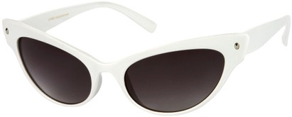 Angle of SW Extreme Cat Eye Style #462 in White Frame, Women's and Men's
