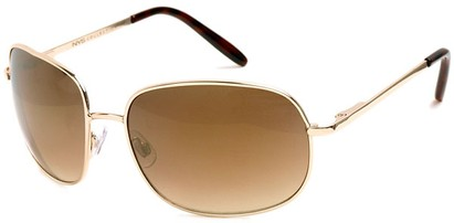 Angle of SW Oversized Style #798 in Gold Frame with Gold Mirrored Lenses, Women's and Men's