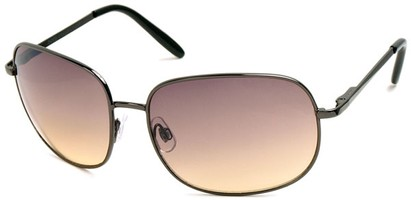 Angle of SW Oversized Style #798 in Grey Frame with Amber Lenses, Women's and Men's