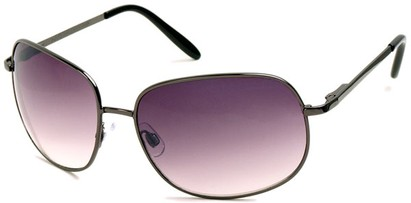 Angle of SW Oversized Style #798 in Grey Frame with Rose Lenses, Women's and Men's
