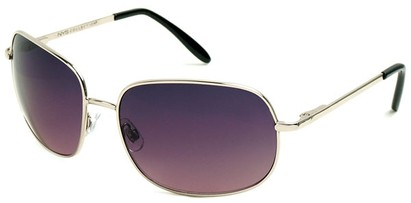 Angle of SW Oversized Style #798 in Silver Frame with Rose/Smoke Lenses, Women's and Men's