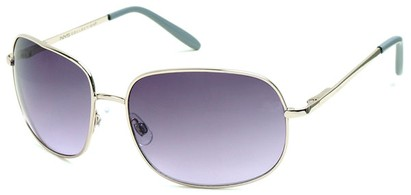 Angle of SW Oversized Style #798 in Silver Frame with Purple Lenses, Women's and Men's
