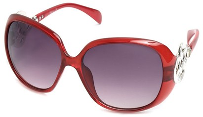 Angle of SW Oversized Style #1917 in Red, Women's and Men's